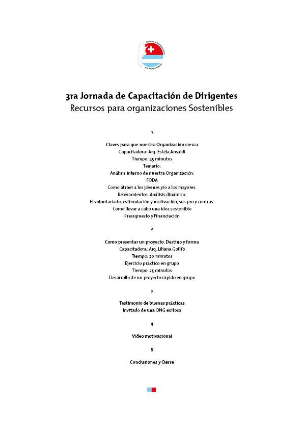 Programa Jornadas Cap Dirigencial FASRA