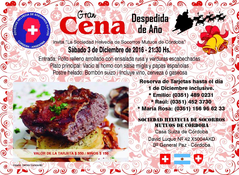 Cena de Fin de Año Casa Suiza de Córdoba