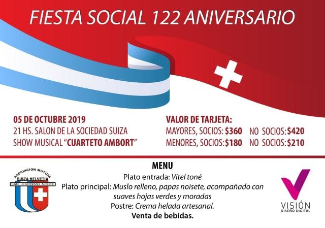 Fiesta Social 122° Aniversario